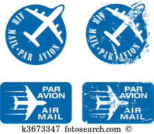 Airmail Clipart Illustrations. 886 airmail clip art vector EPS.