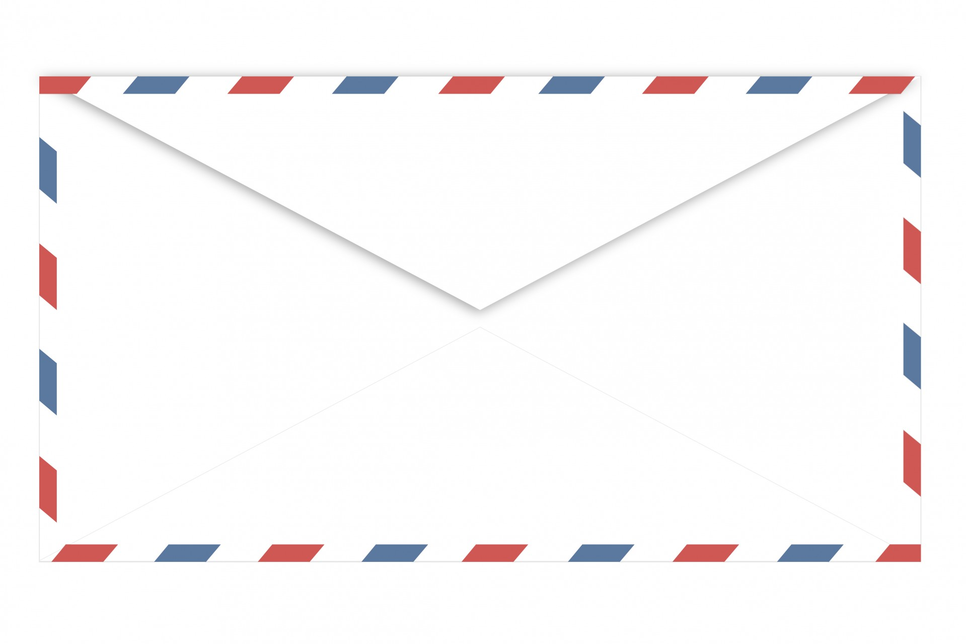 Airmail Envelope Clipart Free Stock Photo.
