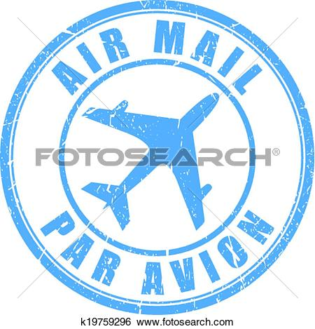 Clip Art of Air mail stamp k19759296.