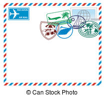Airmail letter Illustrations and Clipart. 1,385 Airmail letter.