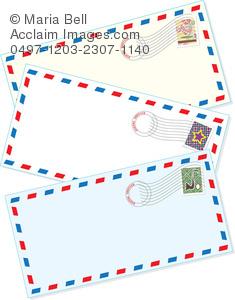 Air Mail Envelopes Clipart Image.