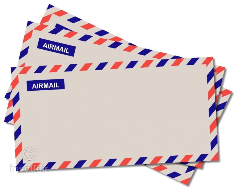 Airmail envelope Royalty Free Vector Stock Photos.
