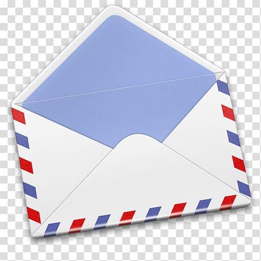 White, red, and blue mail envelope illustration, blue brand.