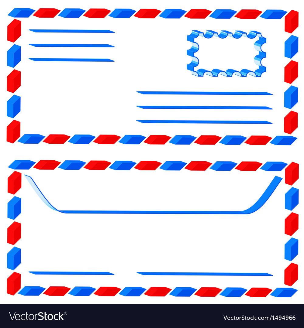 Airmail envelope.