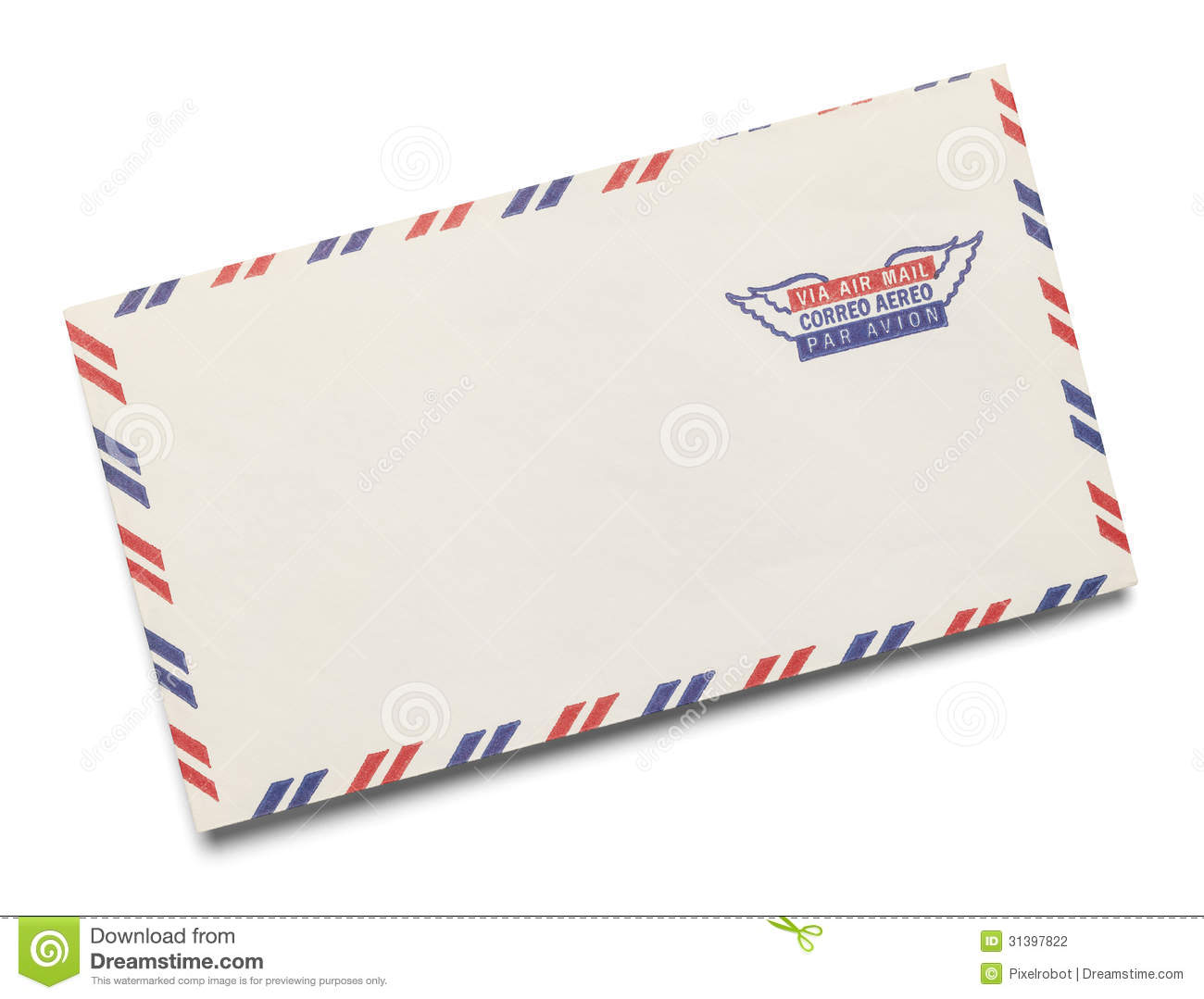 Airmail letter clipart.