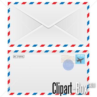 CLIPART AIRMAIL ENVELOPE.