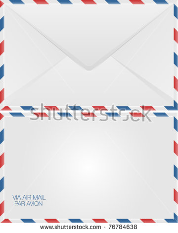 Airmail Letter Stock Images, Royalty.