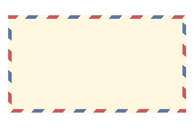Free illustration: Airmail Envelope, Vintage, Letter.