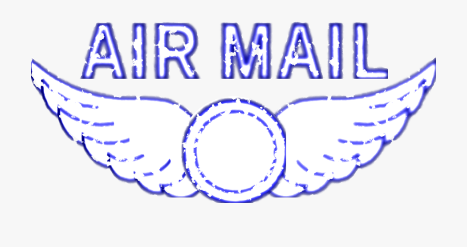 Vintage Air Mail Rubber Stamp Clipart.