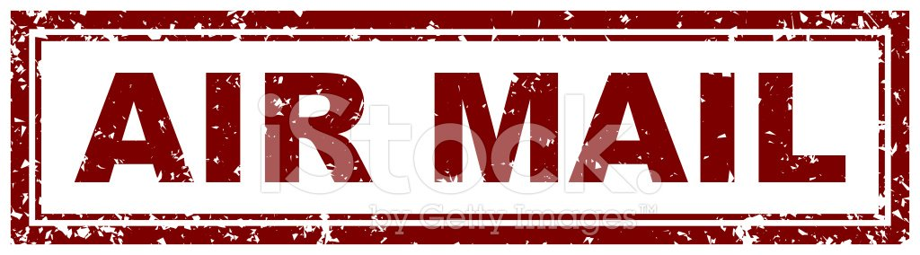 Airmail Stamp Clipart Image.