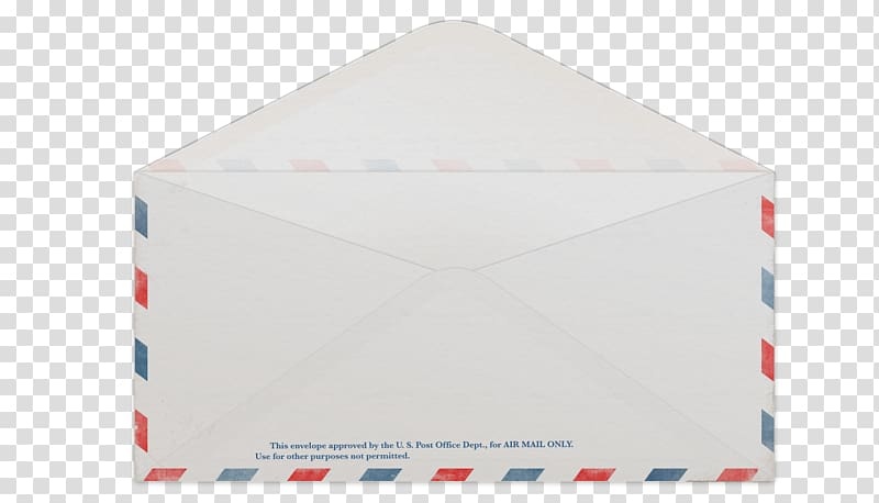 Envelope Airmail Advertising , Open envelope transparent.