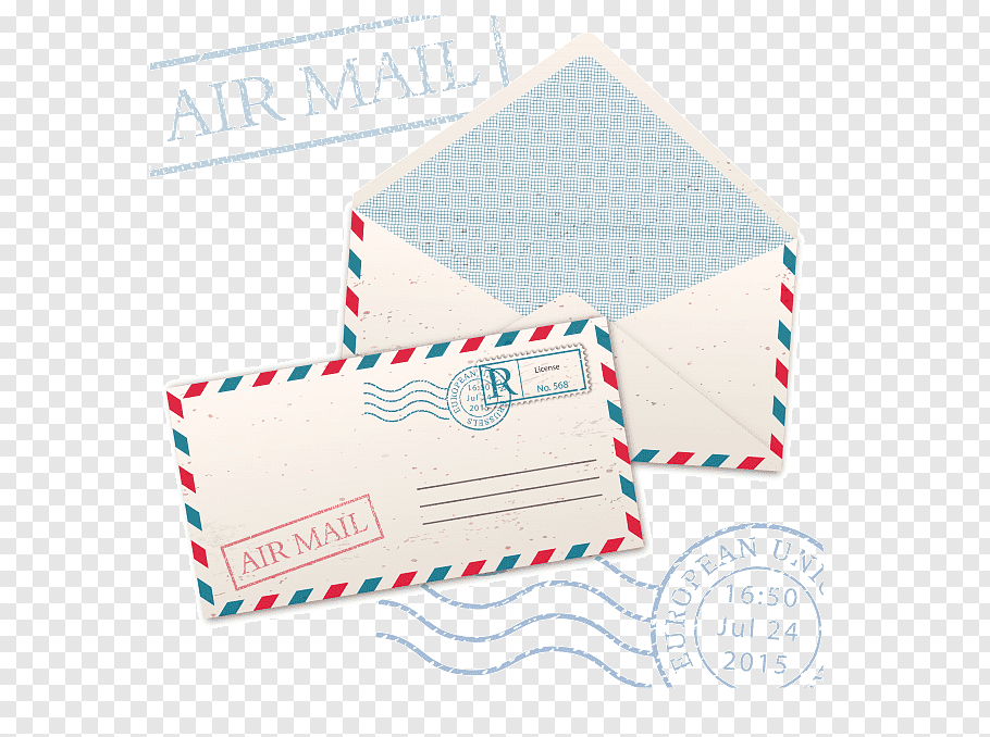 Paper, Envelope, Mail, Postage Stamps, Post Cards, Airmail.