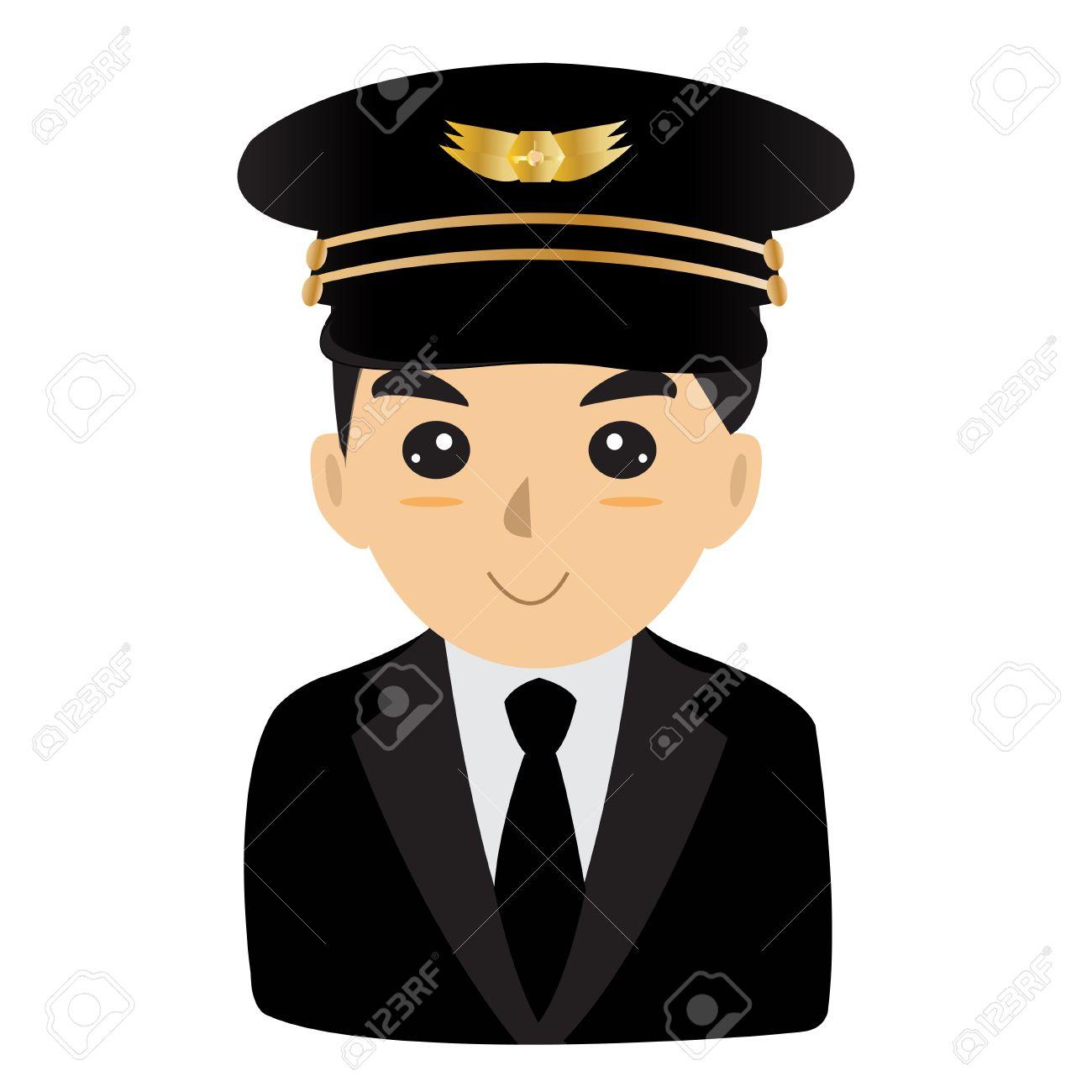 Aviator pilot flyer airman design illustration.