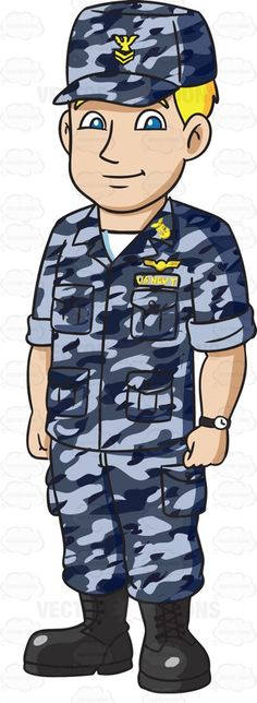 Boy airman clipart.