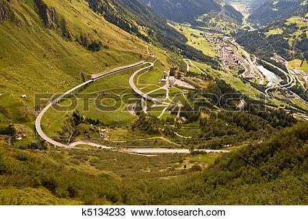 Stock Photo of Airolo Panorama k5134233.