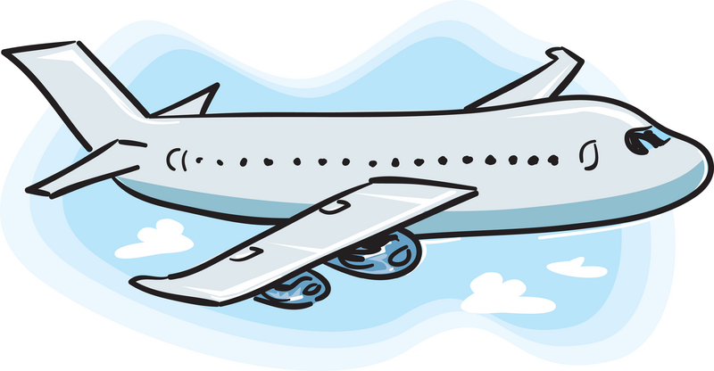 plane flying head on clipart #6