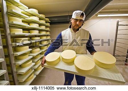 Stock Image of Gotthard dairy, Airolo, Canton Ticino, Switzerland.