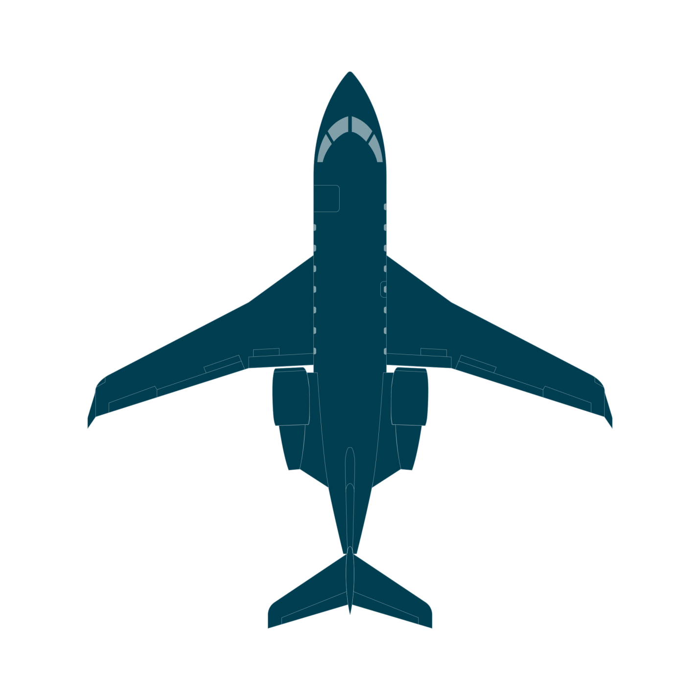 Jet clipart top view, Jet top view Transparent FREE for.