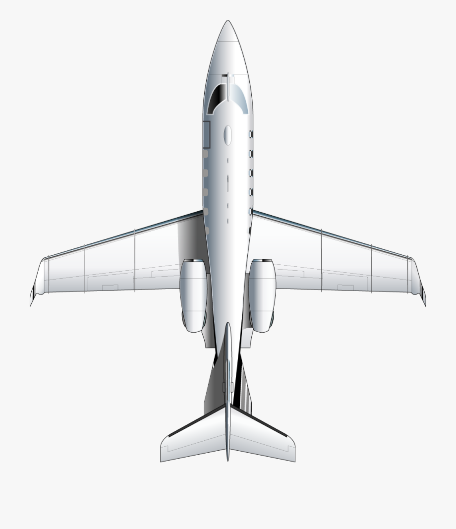 Black Airplane Png.