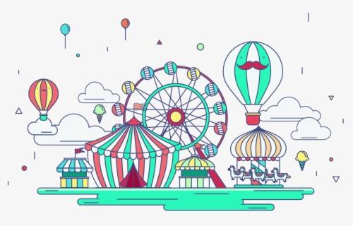 Free Amusement Park Clip Art with No Background.