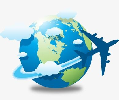 Earth And Airplane, Earth Clipart, Airplane Clipart.