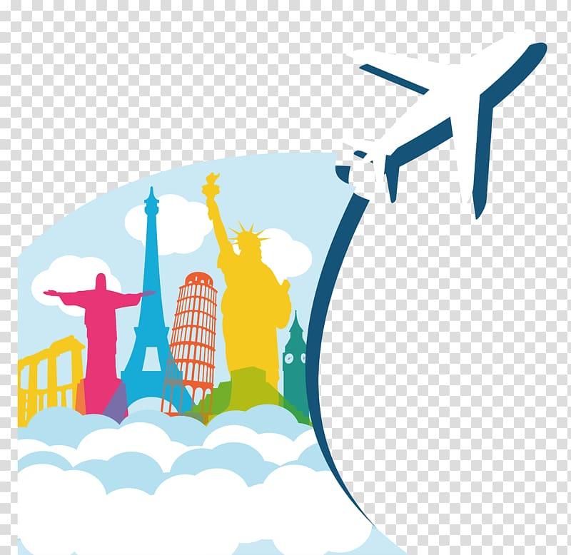 Airplane , Airplane Air travel, World Travel transparent.