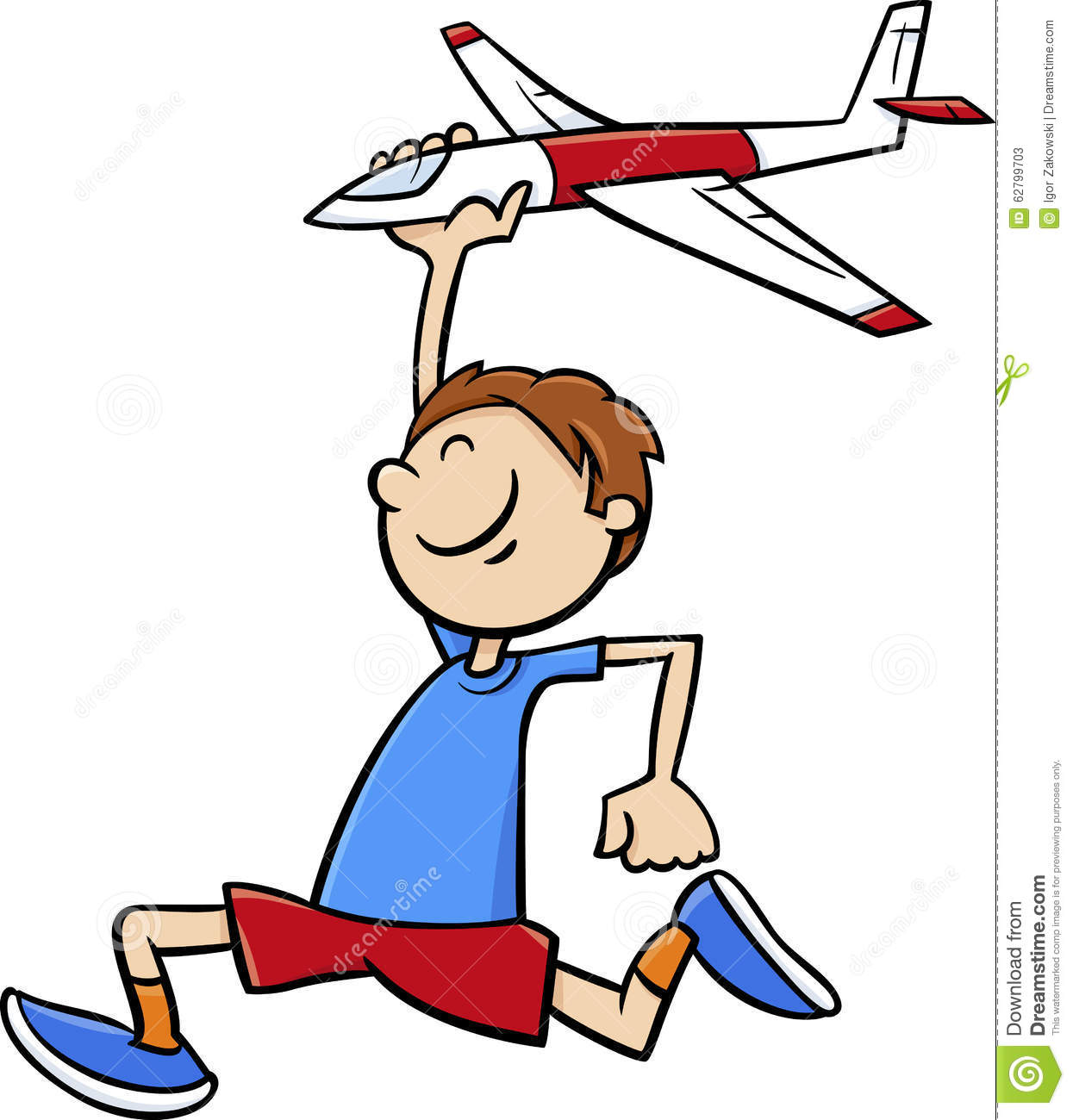 Toy Airplane Clipart.