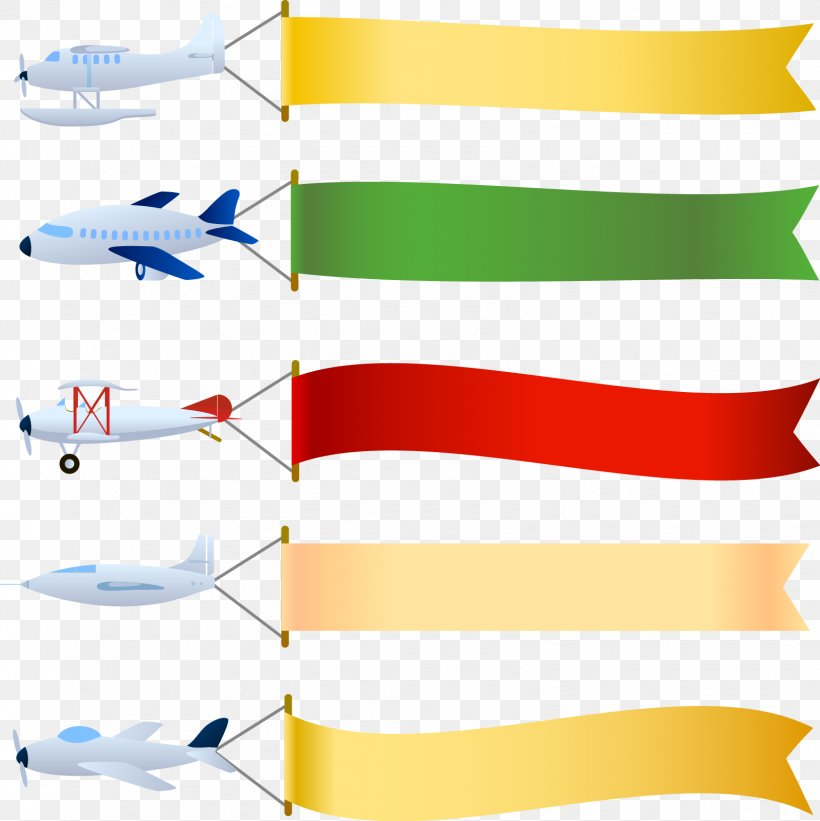 Airplane Aircraft Banner Clip Art, PNG, 1596x1598px.