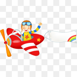 Airplane With Banner Clipart Png.