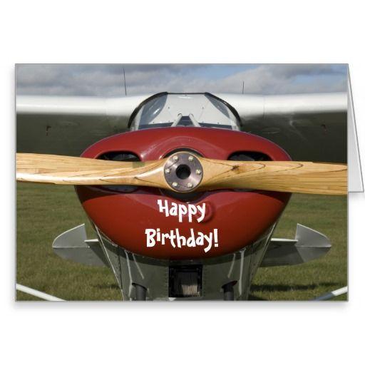 Airplane Pilot Happy Birthday Card.