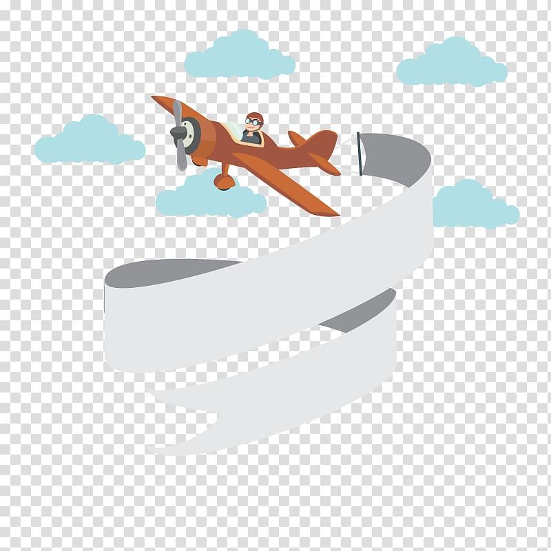 Man riding on brown biplane illustration, Airplane Web.