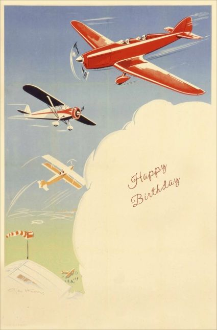 UK Greetings Airplanes Birthday Card.
