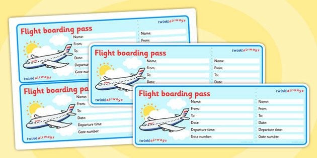 Editable Airline Boarding Pass.