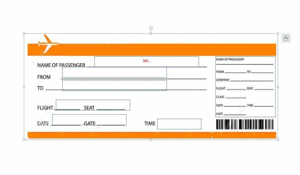 Fake Boarding Pass.