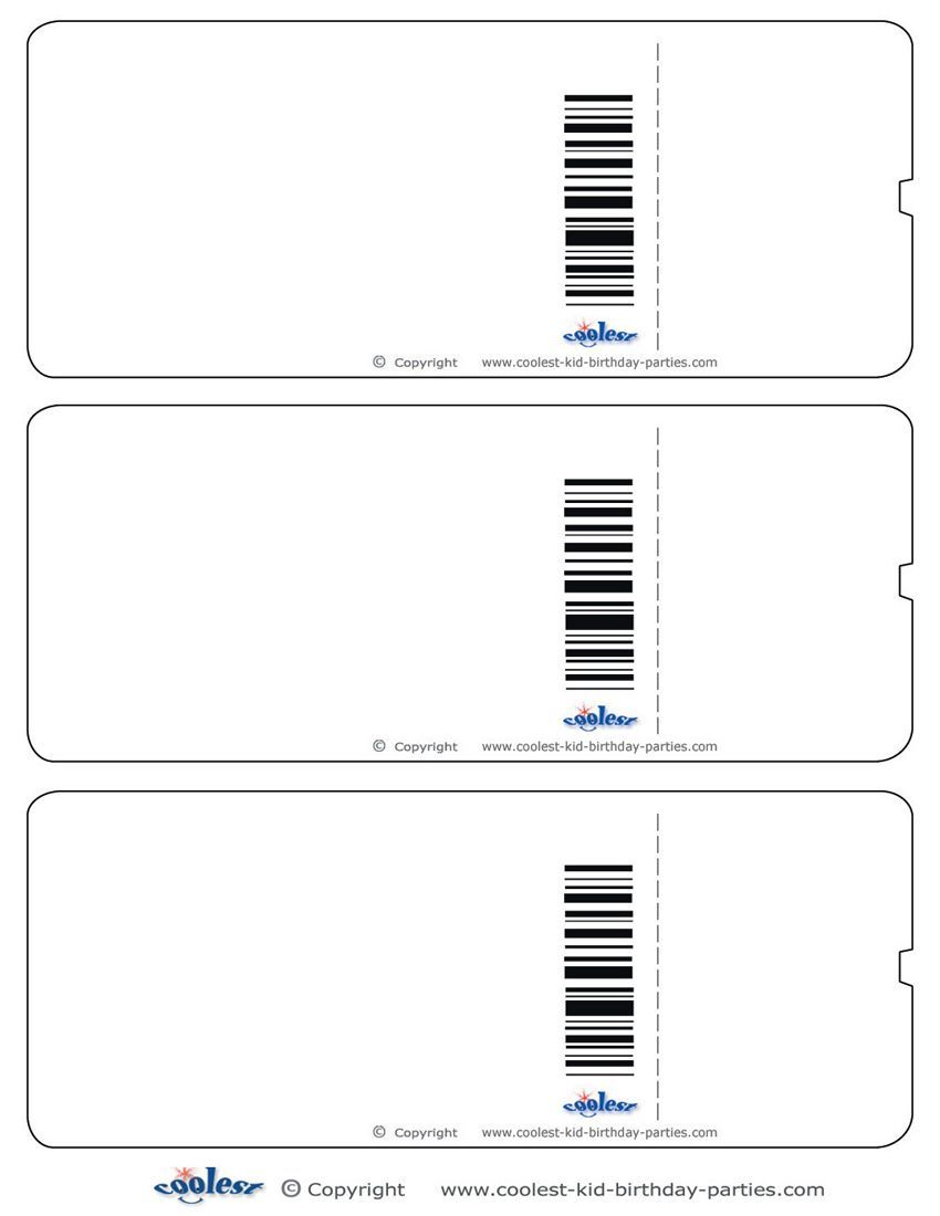 Blank Printable Airplane Boarding Pass Invitations.