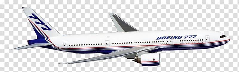 White Boeing 777 airplane art, Boeing 737 Next Generation.