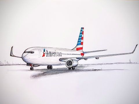 SPEED DRAWING,AMERICAN AIRLINES,Boeing 777.