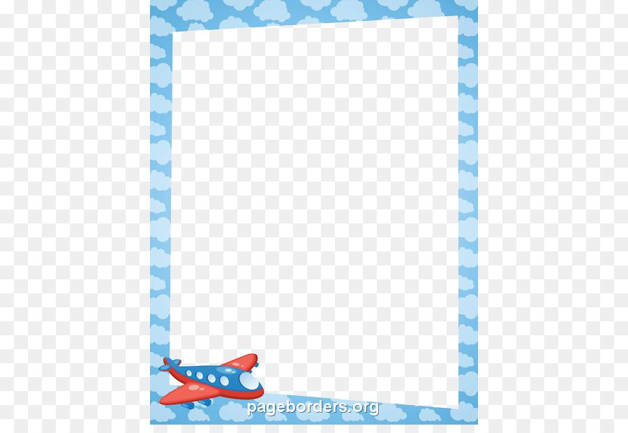 Airplane Border Clipart.