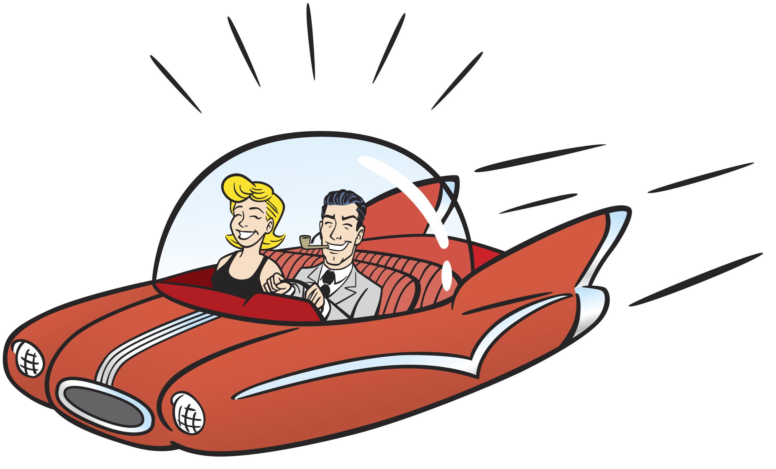 Flying Car Clipart.