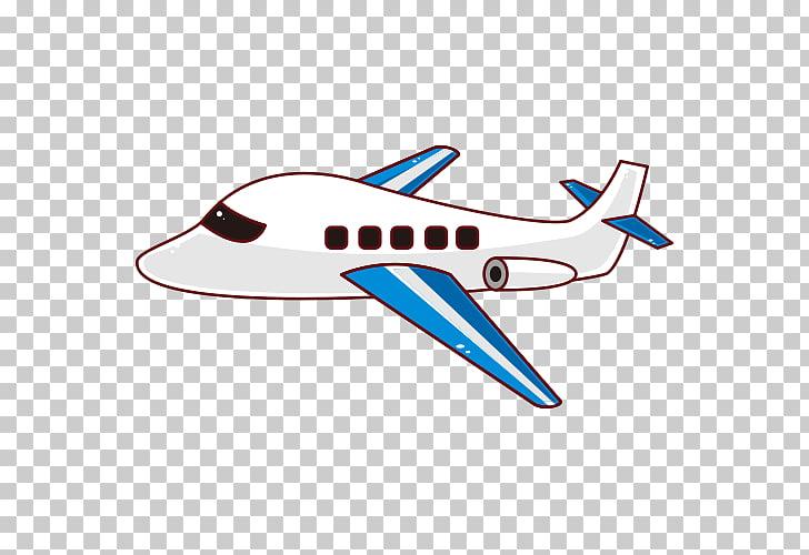 Airplane Cartoon, Cartoon airplane, white and blue airplane.
