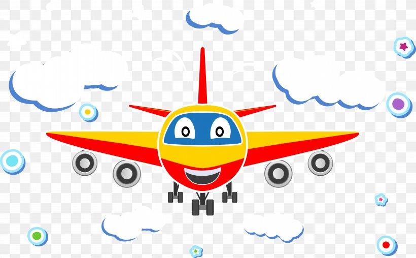 Airplane Aircraft Cartoon Euclidean Vector, PNG, 8753x5425px.