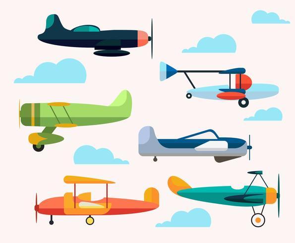 Cartoon Plane Vector.