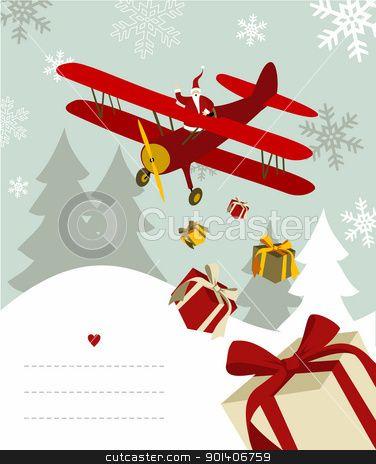 santa claus, airplanes, Christmas.