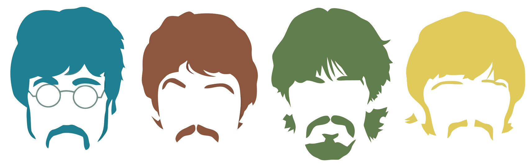 The Beatles Stencil Abbey Road Silhouette.