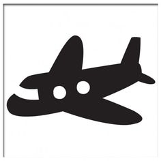 Baby Airplane Silhouette.