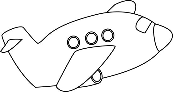 Airplane clipart black and white clipartion com 2.