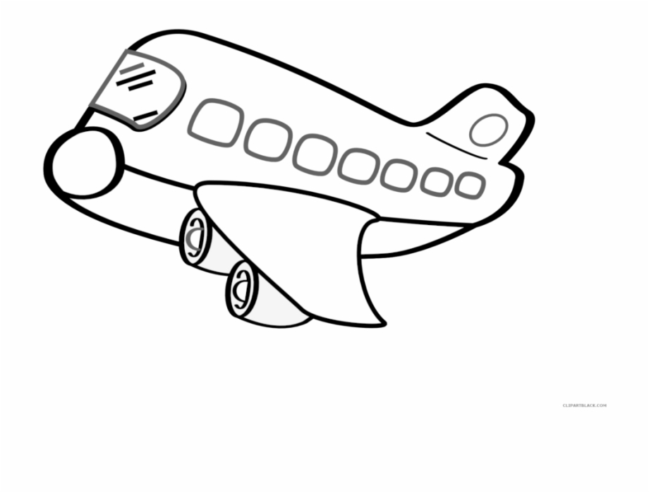 Airplane Clipart Outline 5 Clip Art.