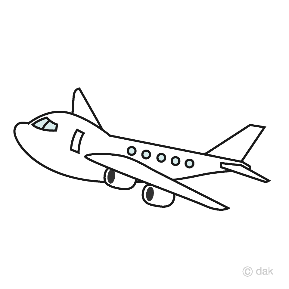 Cute Airplane Clipart Free Picture|Illustoon.