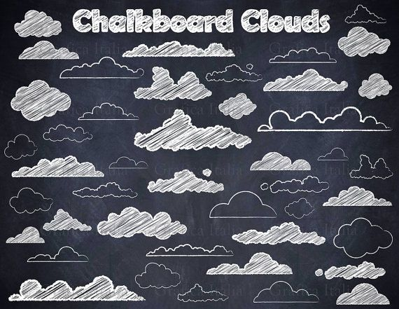 Chalkboard Cloud ClipArt.