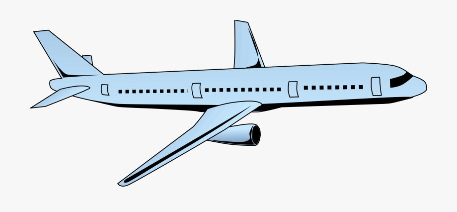 Airplane Clipart Passenger Plane.